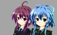 Army girls with purple and blue hair wallpaper 2880x1800 jpg