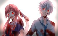 Aru and Yuno - Future Diary wallpaper 1920x1200 jpg