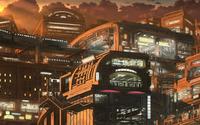 Asian futuristic city wallpaper 2560x1440 jpg