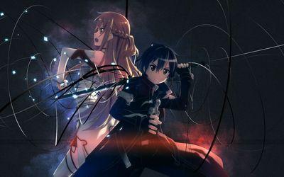 Asuna and Kirito - Sword Art Online wallpaper