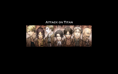 Attack on Titan characters wallpaper