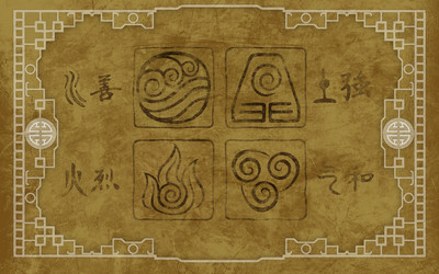 Avatars from Avatar: The Last Airbender wallpaper