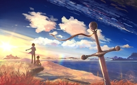 Beautiful sunset in 5 Centimeters Per Second wallpaper 2560x1600 jpg