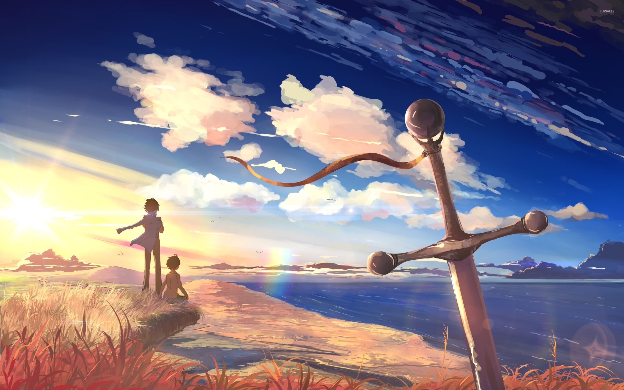Beautiful Sunset In 5 Centimeters Per Second Wallpaper Anime