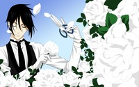 Black Butler trimming the white roses wallpaper 2880x1800 jpg