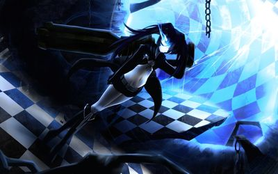 Black Rock Shooter with Stella wallpaper