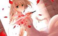 Blonde girl with a knife wallpaper 1920x1080 jpg
