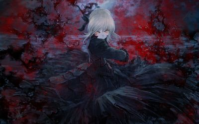 Bloody Saber Alter in Fate/stay night wallpaper