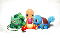 Bulbasaur. Charmander and Squirtle wallpaper 1920x1200 jpg