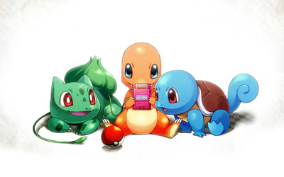Bulbasaur. Charmander and Squirtle wallpaper