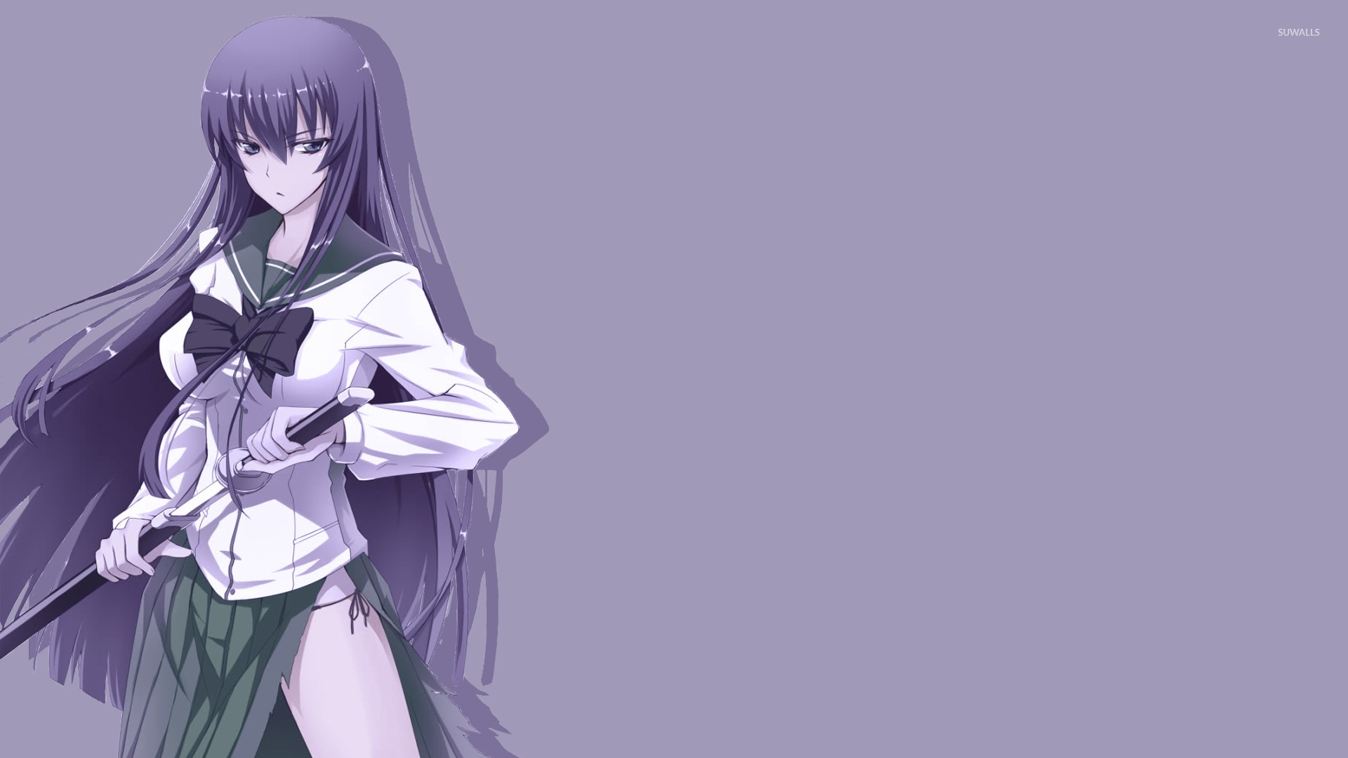 Busujima Saeko In Highschool Of The Dead Wallpaper