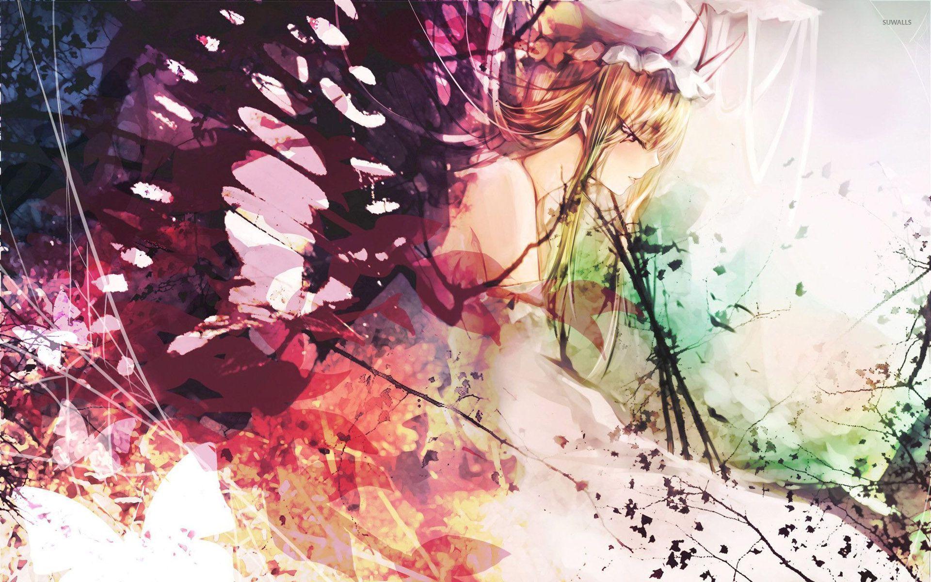 Butterfly Girl Wallpaper