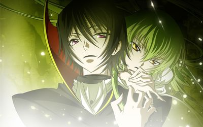 C.C. and Lelouch Lamperouge wallpaper