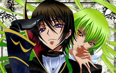C.C. and Lelouch Lamperouge - Code Geass wallpaper