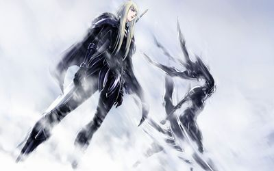 Clare in the snow - Claymore wallpaper