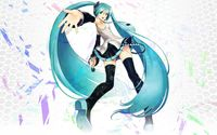 Dancing and singing Hatsune Miku - Vocaloid wallpaper 1920x1200 jpg