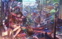 Daydreaming girl in a kimono wallpaper 1920x1200 jpg