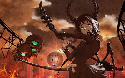Dead Master with skulls - Black Rock Shooter wallpaper