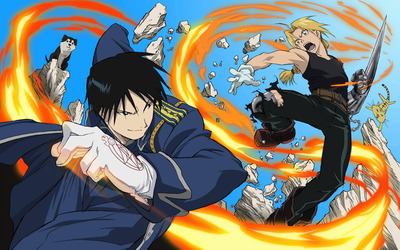 Edward Elric and Roy Mustang - Fullmetal Alchemist wallpaper