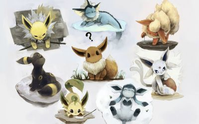 Eevee look-alikes - Pokemon wallpaper