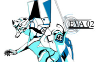 Eva 02 from Neon Genesis Evangelion wallpaper 2560x1600 jpg