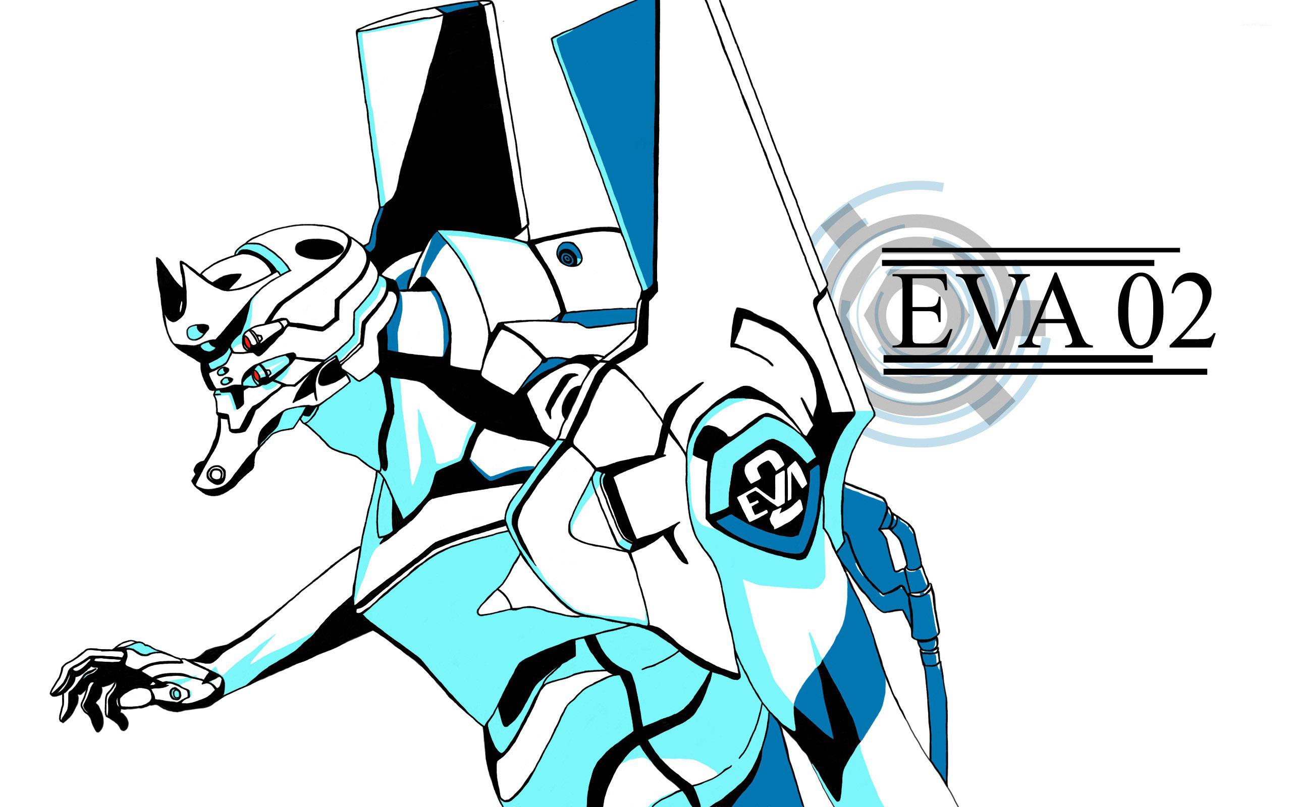 Eva 02 From Neon Genesis Evangelion Wallpaper