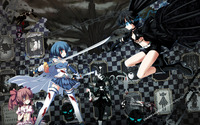 Fighting Stella - Black Rock Shooter wallpaper 2560x1600 jpg