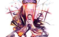 Geisha sitting on the throne wallpaper 1920x1200 jpg
