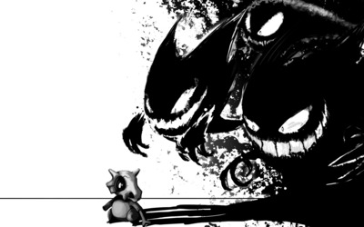 Gengar and Cubone - Pokemon wallpaper