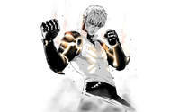 Genos ready to fight in One-Punch Man wallpaper 3840x2160 jpg
