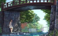 Girl under a bridge wallpaper 1920x1200 jpg