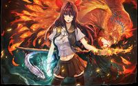 Girl with phoenix wallpaper 1920x1200 jpg