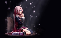 Girl with pink hair praying wallpaper 1920x1080 jpg