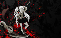 Girl with white hair holding a deadly axe wallpaper 1920x1200 jpg