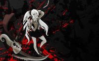 Girl with white hair holding a deadly axe wallpaper 1920x1200 jpg