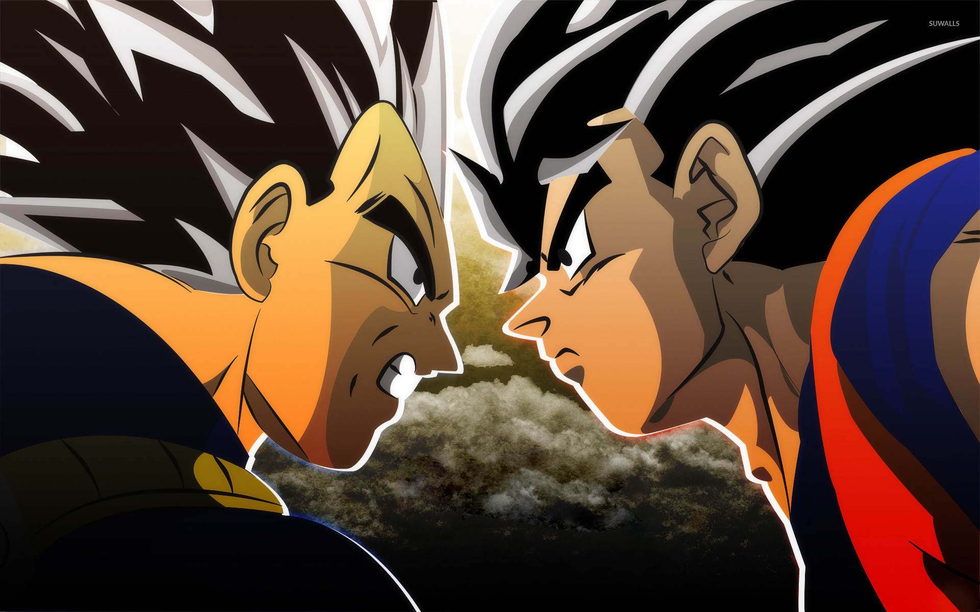 Goku vs vegeta dragon ball z wallpaper anime - Dbz goku vegeta ...