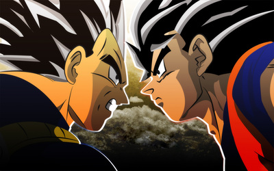 Goku vs Vegeta - Dragon Ball Z wallpaper