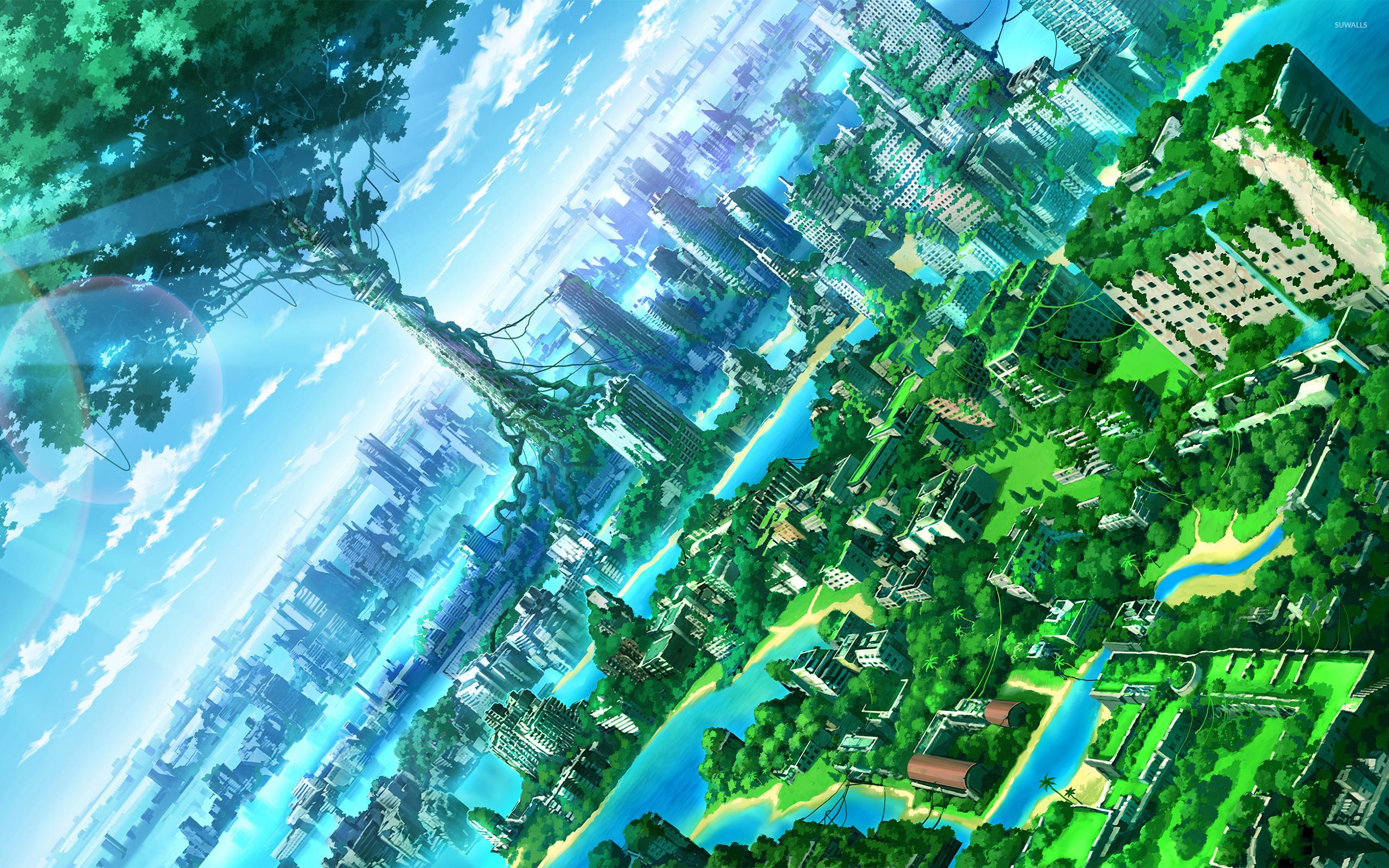 Green city 2 wallpaper - Anime wallpapers - #31389