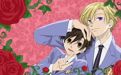 Haruhi Fujioka and Tamaki Suoh - Ouran High School Host Club wallpaper