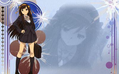Haruhi Suzumiya in The Melancholy of Haruhi Suzumiya wallpaper