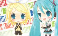 Hatsune Miku and Kagamine Rin from Vocaloid wallpaper 1920x1200 jpg