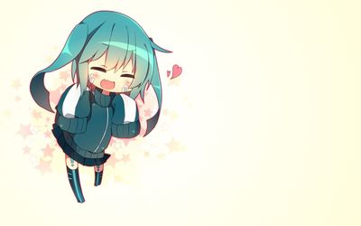 Hatsune Miku in love in Vocaloid wallpaper