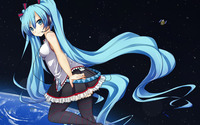 Hatsune Miku in space - Vocaloid wallpaper 1920x1200 jpg