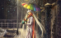 Hatsune Miku in the rain [2] wallpaper 1920x1200 jpg