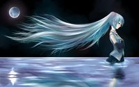 Hatsune Miku in the river - Vocaloid wallpaper 1920x1200 jpg