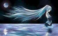 Hatsune Miku in the river - Vocaloid wallpaper 1920x1200 jpg