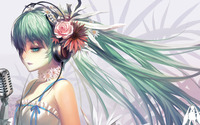 Hatsune Miku singing - Vocaloid wallpaper 1920x1080 jpg
