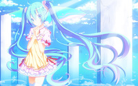Hatsune Miku under sun light - Vocaloid wallpaper 2880x1800 jpg