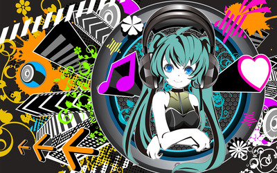 Hatsune Miku - Vocaloid [18] wallpaper