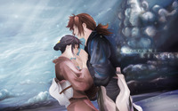 Himura and Kamiya - Samurai X [3] wallpaper 2560x1440 jpg